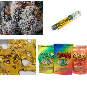 Za Za Express Combo – 1 Gram Cannabis Shatter, 1 Cannabis Cart, 3 Packs of Cannabis Edibles Gummies, 1/4 oz of Premium Cannabis Flower (best deal)